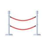 Vettore rosso arricciato strutturato di seta dei nastri del toolwith elegante di VIP royalty illustrazione gratis