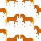 Vettore rosso dei cavalli di struttura senza cuciture Immagine Stock