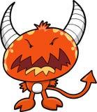 Vettore rosso del diavolo del mostro Fotografia Stock Libera da Diritti