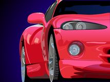 Vettore rosso dell'automobile sportiva Fotografia Stock Libera da Diritti