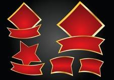 Vettore rosso delle bandiere Immagine Stock
