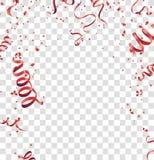 Vettore rosso F di celebrazione del fondo dei coriandoli del fondo astratto illustrazione di stock