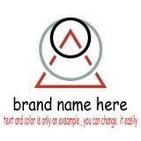 Vettore rotondo di logo del triangel illustrazione di stock