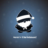 Vettore Santa su backgroun blu Illustrazione di Stock