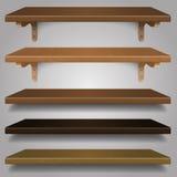 Vettore - scaffali di legno, Immagine Stock Libera da Diritti