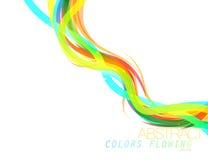 Vettore scorrente di colori astratti Fotografie Stock