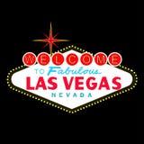 VETTORE: Segno di Las Vegas alla notte (formato di ENV disponibile) Fotografia Stock
