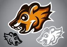 Vettore selvaggio 2902 di logo di marrone della testa dello scoiattolo Fotografie Stock