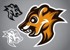 Vettore selvaggio 2901 di logo di marrone della testa dello scoiattolo Immagine Stock Libera da Diritti