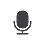 Vettore semplice dell'icona del vecchio microfono illustrazione vettoriale
