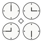 Vettore semplice dell'orologio dell'orologio marcatempo di ora del tvelve icona rotonda del quoter della mezza Immagini Stock