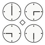 Vettore semplice dell'orologio dell'orologio marcatempo di ora sei icona rotonda del quoter della mezza Immagini Stock Libere da Diritti