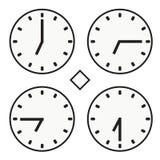 Vettore semplice dell'orologio dell'orologio marcatempo di ora sette icona rotonda del quoter della mezza Fotografia Stock Libera da Diritti