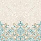 Vettore senza cuciture del confine decorato nello stile orientale Modello di Islam illustrazione di stock