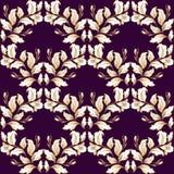 Vettore senza cuciture del modello barrocco d'annata nel fondo grafico di stile del fiore classico per il contesto, modello, prog royalty illustrazione gratis
