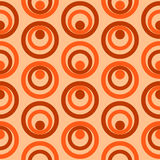 Vettore senza cuciture del modello dei retro cerchi variopinti astratti Immagine Stock