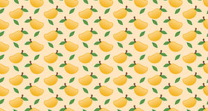 Vettore senza cuciture del modello del mango Immagini Stock