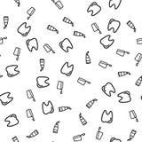 Vettore senza cuciture del modello delle attrezzature per la pulizia dai denti royalty illustrazione gratis
