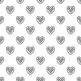 Vettore senza cuciture del modello impressionabile del cuore illustrazione vettoriale