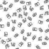 Vettore senza cuciture del modello del libro o del dizionario delle biblioteche illustrazione di stock
