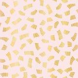 Vettore senza cuciture di lusso di Rose Gold Party Confetti Pattern, imballaggio alla moda illustrazione di stock