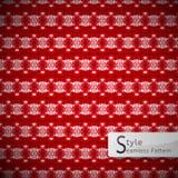 Vettore senza cuciture geometrico del modello della rosa rossa della maglia Fotografia Stock Libera da Diritti
