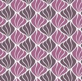 Vettore Shell Abstract Seamless Pattern Art Deco Style Background Struttura geometrica Fotografie Stock Libere da Diritti