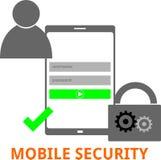 Vettore - sicurezza mobile Immagine Stock