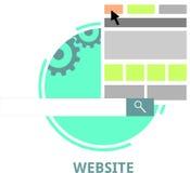 Vettore - sito Web Fotografia Stock