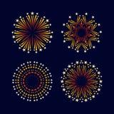 Vettore stabilito del piano dell'icona del fuoco d'artificio di evento di festa e del partito Fotografia Stock Libera da Diritti