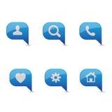 Vettore stabilito dell'icona blu illustrazione di stock