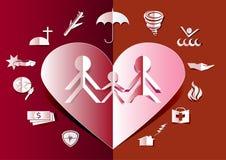 Vettore stabilito della pubblicità di vendita dell'icona di assicurazione stile di carta di arte illustrazione vettoriale