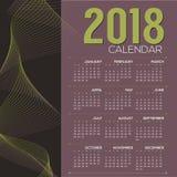 Vettore stampabile di domenica di 2018 inizio del calendario illustrazione vettoriale