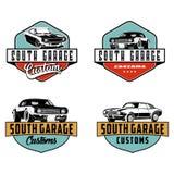 Vettore su ordinazione di logo del garage illustrazione vettoriale