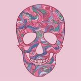 Vettore Sugar Skull con l'ornamento Fotografia Stock Libera da Diritti