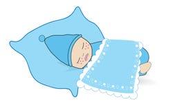 Vettore sveglio del bambino del neonato illustrazione di stock