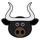 Vettore sveglio del Bull Immagini Stock Libere da Diritti
