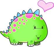 Vettore sveglio del dinosauro Immagini Stock