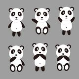 Vettore sveglio del panda Immagine Stock Libera da Diritti