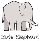 Vettore sveglio dell'elefante del fumetto royalty illustrazione gratis