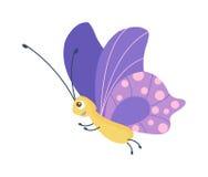 Vettore sveglio della farfalla su bianco Fotografia Stock