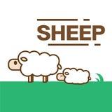 Vettore sveglio delle pecore Immagine Stock