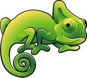 Vettore sveglio Illustra del Chameleon Fotografia Stock