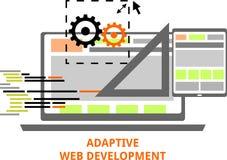 Vettore - sviluppo adattabile di web Fotografia Stock