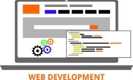 Vettore - sviluppo di web Fotografia Stock Libera da Diritti