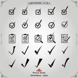 Vettore Tick Check Mark Icon Set Fotografia Stock Libera da Diritti