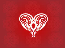 Vettore tribale del cuore Immagini Stock