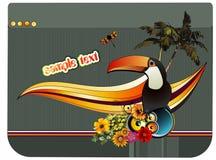 Vettore tropicale dell'uccello Fotografia Stock