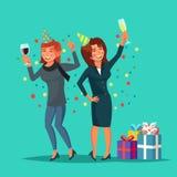 Vettore ubriaco delle donne Concetto dell'alcool illustrazione di stock