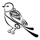 Vettore - uccello astratto Fotografia Stock Libera da Diritti